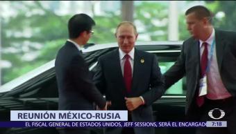 Peña Nieto Reúne Con Vladimir Putin