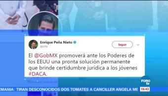 Epn Lamenta Cancelación Programa Daca Presidente Enrique Peña Nieto