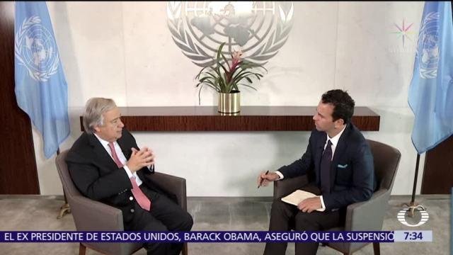 Entrevista, exclusiva, Antonio, Guterres