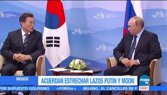 Acuerdan, estrechar, Putin, Moon