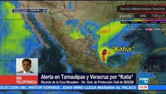 Alerta, Tamaulipas, Veracruz, tormenta