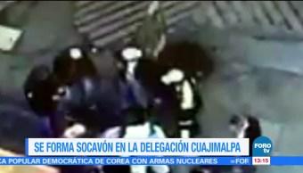 Socavón, afecta, Cuajimalpa, CDMX