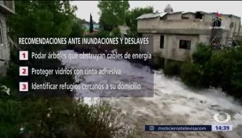 Advierte Protección Civil sobre deslaves por Katia