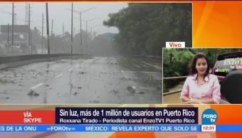 Sin luz más millón de personas en Puerto Rico tras paso Irma