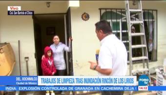 Vecinos de Xochimilco dan testimonio de la inundación