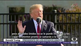 Trump, advierte, terroristas, enemigos