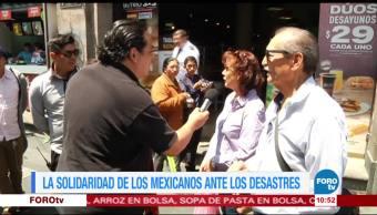 solidaridad, mexicanos, ante, desastres