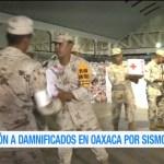 Llegan despensas de la Cruz Roja a Oaxaca