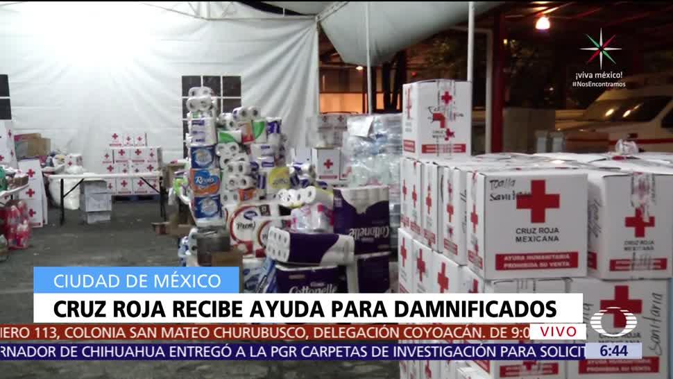 Cruz Roja Recibe Ayuda Damnificados