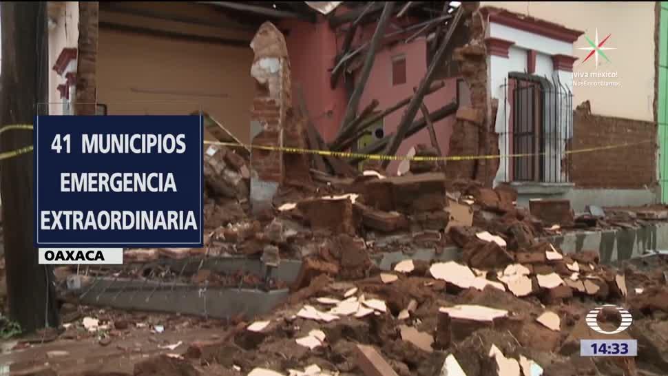 Los daños que dejó el sismo en Oaxaca y Chiapas