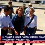 EPN regresa a Oaxaca para recorrer zonas afectadas