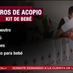 Cruz Roja solicita artículos para bebés damnificados