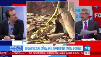 Costo de infraestructura dañada por terremoto en Chiapas y Oaxaca