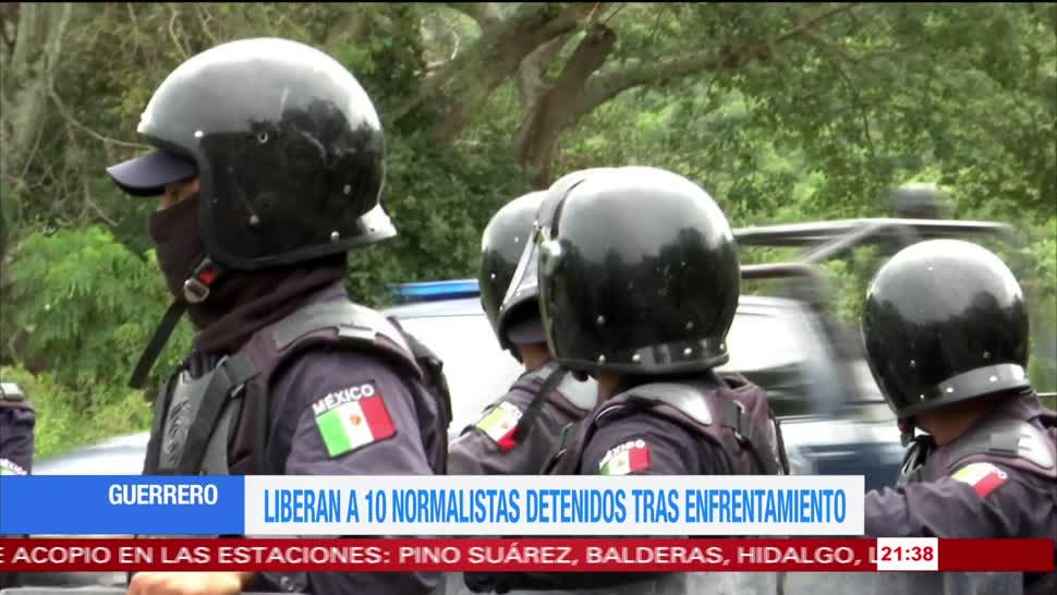 Liberan a normalistas detenidos tras enfrentamiento en Guerrero