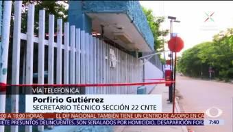 CNTE niega que impidan censo de escuelas dañadas tras sismo en Oaxaca