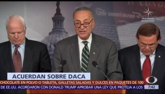 Demócratas anuncian acuerdo con Trump sobre futuro del programa DACA