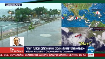Toma Guerrero medidas necesarias ante llegada de huracán Max