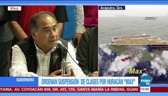 Héctor Astudillo delinea acciones preventivas por cercanía del huracán 'Max'