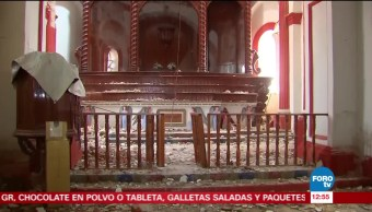 Oaxaca y Chiapas reportan daños en numerosas iglesias y zonas arqueológicas