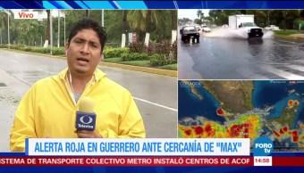 Max sigue estacionado frente a Guerrero
