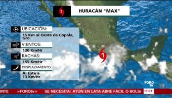 Alerta en Acapulco Guerrero por huracán Max