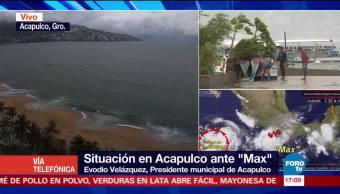 Hasta ahora no hay daños por Max en Acapulco Evodio Velázquez