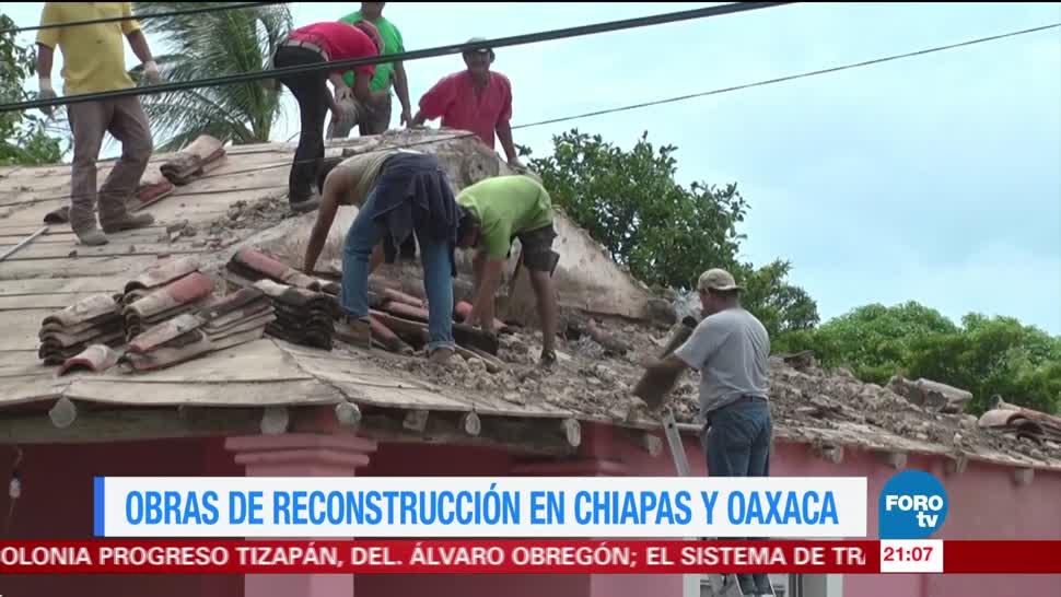 Afectaciones en Chiapas y Oaxaca por sismo