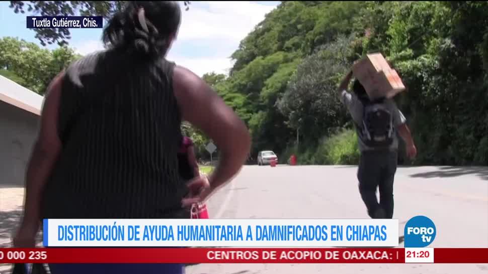 Ayuda humanitaria sigue llegando a Chiapas