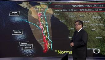 Los ciclones tropicales que acechan a México