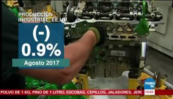 Producción industrial y las ventas minoristas de Estados Unidos caen por Harvey