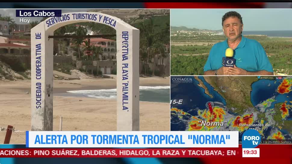 Alerta en Los Cabos por 'Norma'