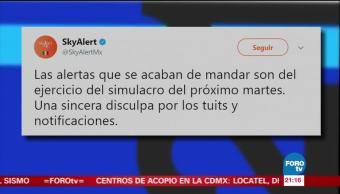 SkyAlert manda por error alertas sísmicas
