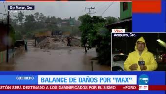 Afectaciones en Guerrero por huracán 'Max'