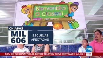 Reanudarán clases en todos los niveles este lunes en Chiapas