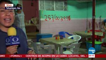 Censan viviendas afectadas por sismo en Tehuantepec, Oaxaca
