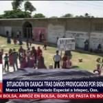 Pobladores tratan de recuperar su vida cotidiana tras sismo en Ixtepec Oaxaca