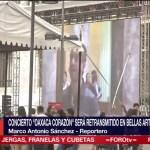 """Concierto """"Oaxaca corazón"""" podrá ser visto en el exterior del Palacio de Bellas Artes"""