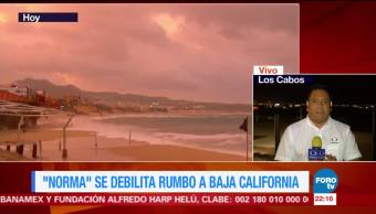 Tormenta 'Norma' se debilita rumbo a Baja California
