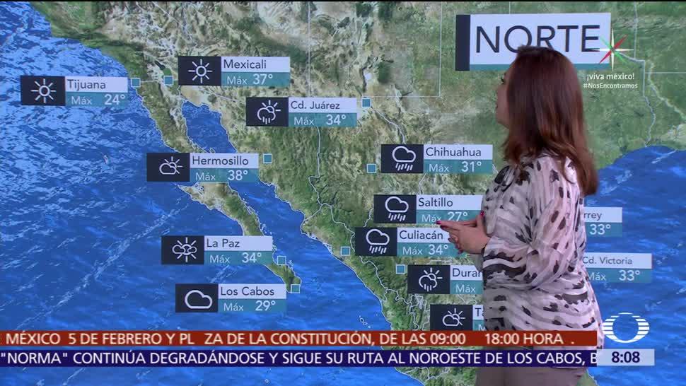 Clima Al Aire: 'Norma' y onda tropical 34 propiciarán lluvias en México