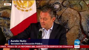 Nuño anuncia acciones para reconstruir planteles dañados tras sismo