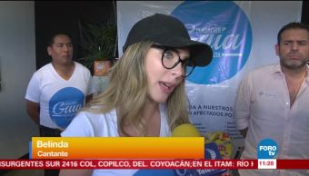 #LoEspectaculardeME: Belinda recolecta víveres para damnificados de Chiapas y Oaxaca