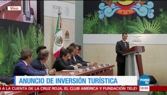 EPN anuncia inversión turística en Quintana Roo