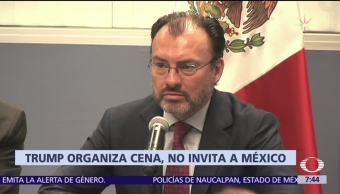 Trump excluye a México de cena con líderes latinoamericanos