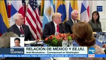 Cena Trump con presidentes de Latinoamérica