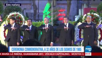 Miguel Ángel Mancera encabeza conmemoración del sismo de 1985