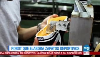 Robot que elabora zapatos deportivos