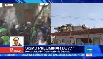 No hay lesionados en Guerrero tras sismo de este martes