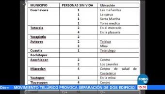 Reportan 42 muertos en Morelos