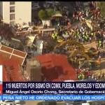 Estamos coordinados para labores de apoyo tras el sismo: Osorio Chong