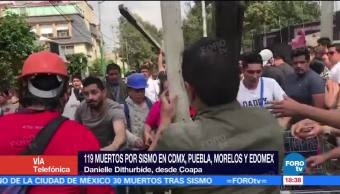 Se registra fuga de gas en escuela colapsada en Coapa